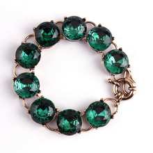 1 5cm Pop Color Faceted Round Crystal Dot Bracelet Gold Trendy Bridesmaid Jewelry Women Accessories Factory