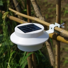 3 LED Solar Powered Outdoor Lights Lamp Fence Gutter Roof Yard Wall Garden light Outdoor Lighting Led Solar Creations Path Light lumiparty 6 pack sun power smart led solar gutter utility light permanent for houses fence garden shed walkways anywhere