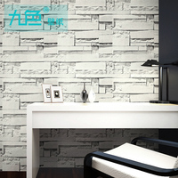 Simple Wallpaper Brick Stone Wallpaper Decoration Vintage Brick Solid Color Waterproof Self Adhesive Vinyl Wallpaper