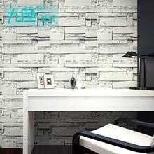 ФОТО simple wallpaper brick stone wallpaper decoration vintage brick solid color waterproof self adhesive vinyl wallpaper