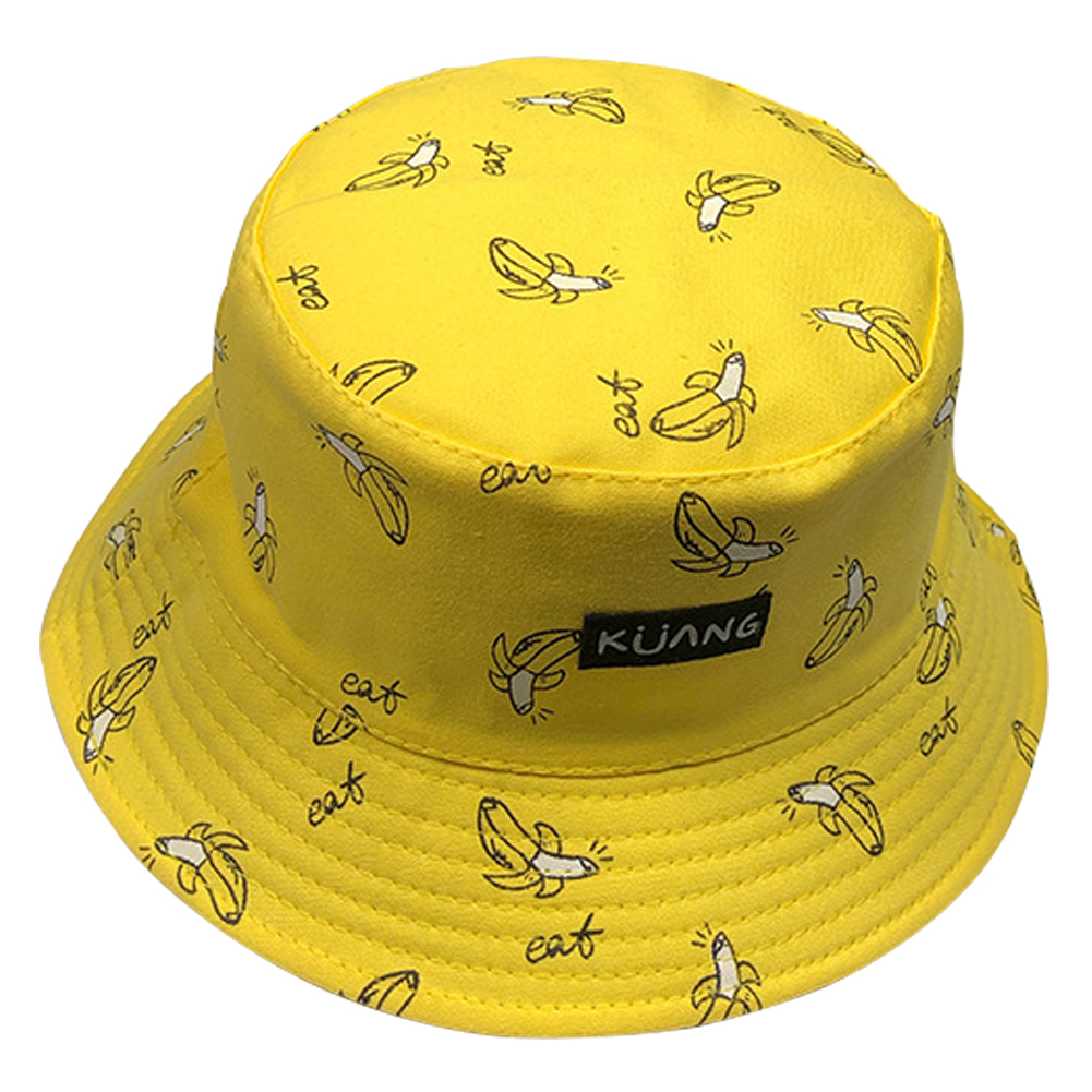 Fisherman Hats Bucket-Hat Banana-Print Panama Women Summer Hip-Hop New Gorros