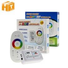 RGBW / RGB LED Controler מגע מסך 2.4G DC12 24V 18A מרחוק בקר ערוץ עבור RGB / RGBW LED רצועת.