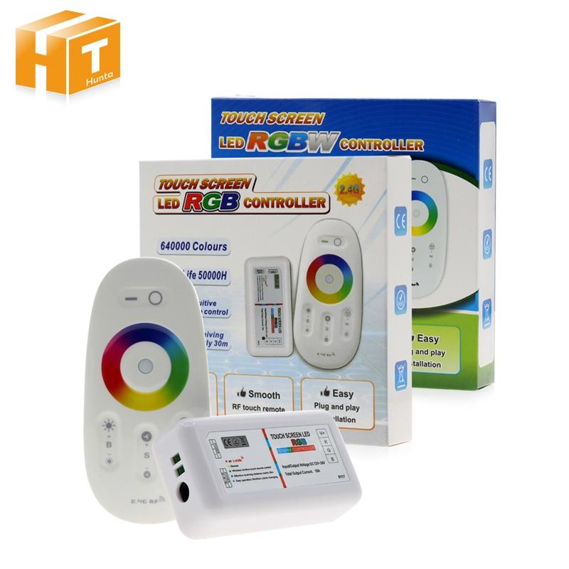 RGBW/RGB LED controlador de pantalla táctil 2,4G DC12-24V 18A controlador remoto canal RGB/RGBW de