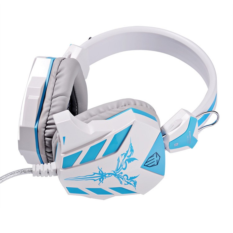 Cosonic CD-618 40mm Driver Unit Two-channel Stereo Gaming Headset Headphones with Volumn Control Mic LED Light for PC Computer (15)