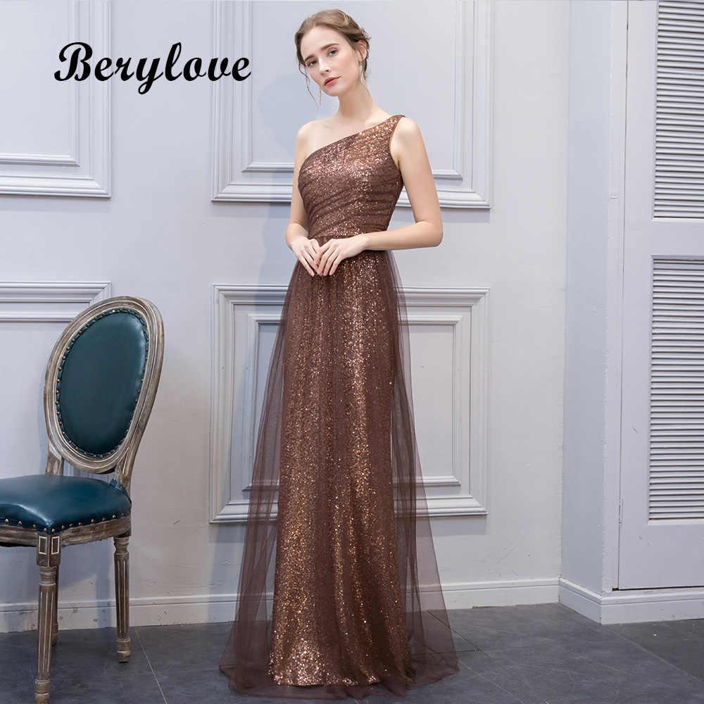 Beautiful Mermaid Maroon Sequin Evening Dresses 2019 Long Tulle One  Shoulder Evening Dress Plus Women Formal 851dde9e5691