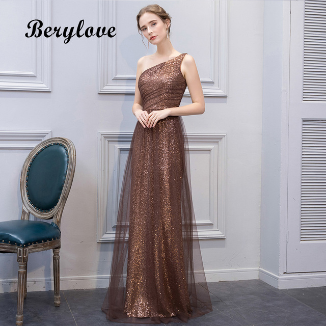 6e78fa714 Beautiful Mermaid Maroon Sequin Evening Dresses 2019 Long Tulle One  Shoulder Evening Dress Plus Women Formal Evening Gowns