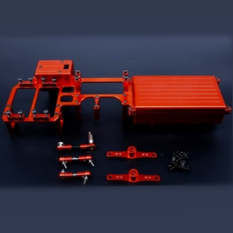 Dual Steering Servo Radio Tray For LOSI-5T 1/5 gas rc baja spare parts alloy equipment box 87079 eglo 87079
