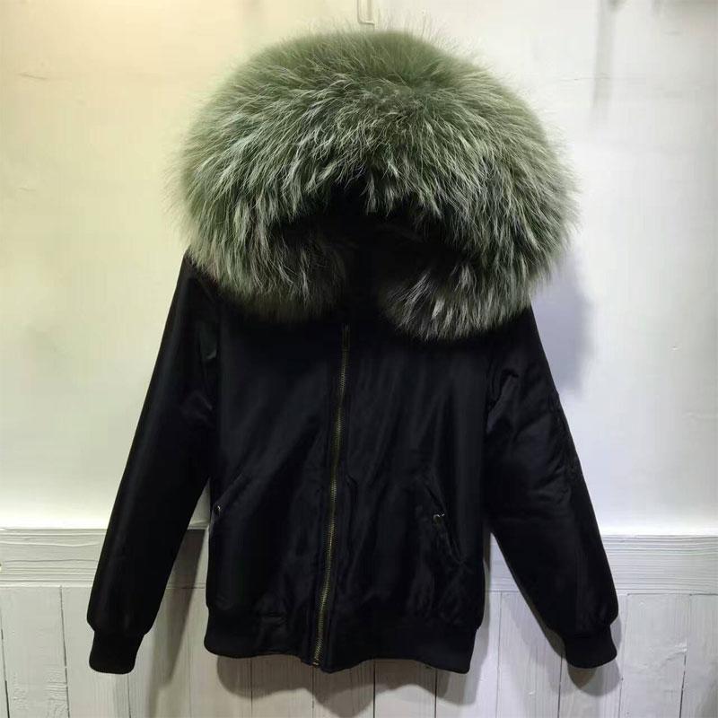 Factory Price Sale Good Quality Bombers for winter unisex Big Raccoon Collar uniform jacket