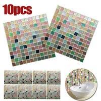 PVC Bathroom Kitchen Waterproof Wall Sticker 3D Mosaic Tile Wall Stickers Decor