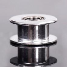 1 pièces poulie tendeur lisse 2GT 20 dents roue synchrone poulie roue Passive poulie tendeur alésage de roue 5mm