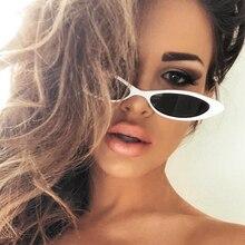 DCM New Cute Sexy Retro Cat Eye Sunglasses Women Black White Triangle Vintage