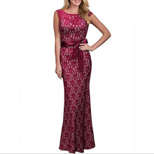 Summer Lace Pinup Maxi Formal Lace Dress Women Elegant Sexy Slim Backless Sleeveless Long Party Dresses Hollow Out Lace Vestidos