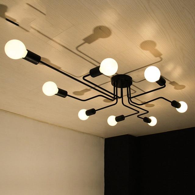 Aliexpress.com : Buy Vintage Ceiling Light Iron Multiple Rod ...