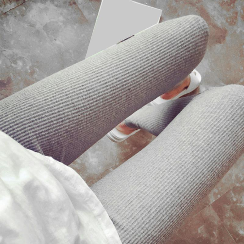 New Autumn And Winter Cotton Ninth Pants Leggings Thread Slim Thicker Solid Color Softer Keep Warm Leggings White/Black/grey