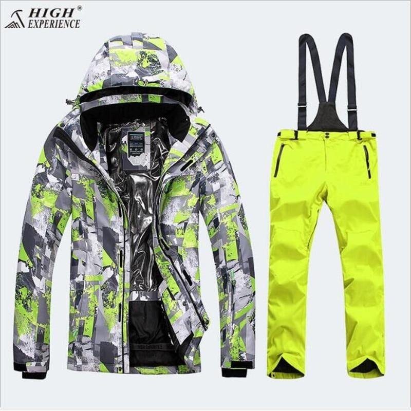 Лыжный костюм для девочек зимний комплект Для детей лыжная куртка и Штаны Спорт с отстегивающимся капюшоном Водонепроницаемый сноуборд ку