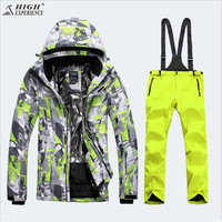 Girls Ski Suit Set Winter Children Kids Ski Jacket and pants Sport With Detachable Hooded Waterproof Snowboard Jacket Pants