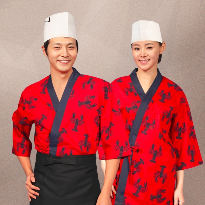 10 ()Korean Food Chef's Long Sleeve Catering Chef Clothes After Hutch Overalls A Japanese Chef Clothing Uniforms