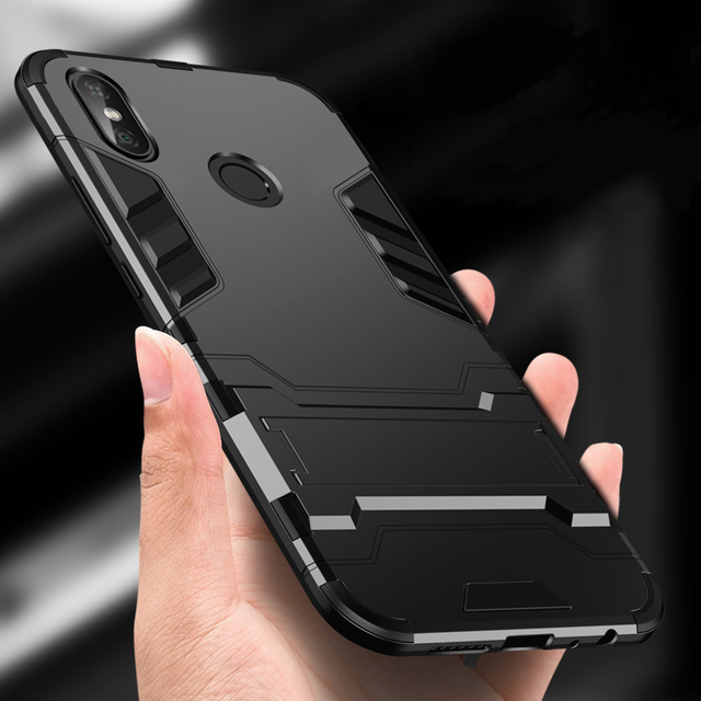 90e3925a36c For Xiaomi Redmi 4X Case Luxury Hybrid Hard PC+TPU Rugged Armor Phone Case  For Redmi Note 5 Pro 4 4X Shockproof With Stand Cover
