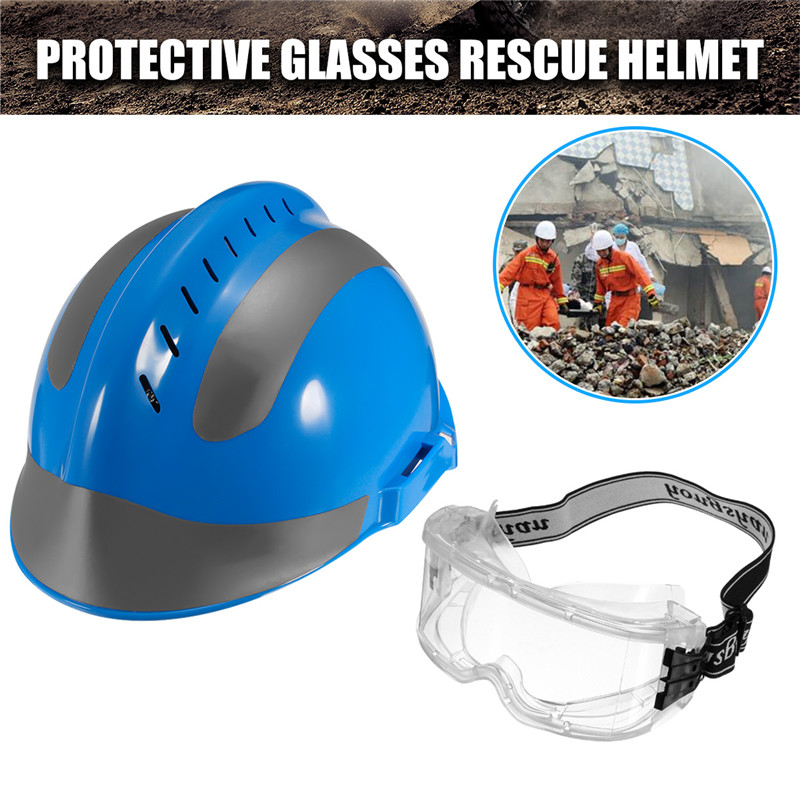 Rescue Helmet+Protective Glasses For Fire Fighter China CAPF Safety Protector F2 Blue Workplace Safety fire maple sw28888 outdoor tactical motorcycling wild game abs helmet khaki