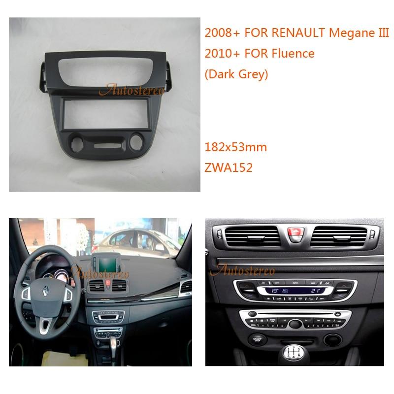 car radio installation fascia for renault megane iii 2008. Black Bedroom Furniture Sets. Home Design Ideas