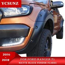9 дюймов с колесная гайка АРКА Fender Flare для Ford Ranger wildtrak T7 2016 2017 2018 двойной Cabin