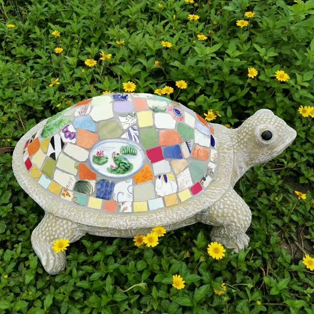 Outdoor Turtle Garden Ornament European Ceramic Animal Courtyard Landscape Decoration