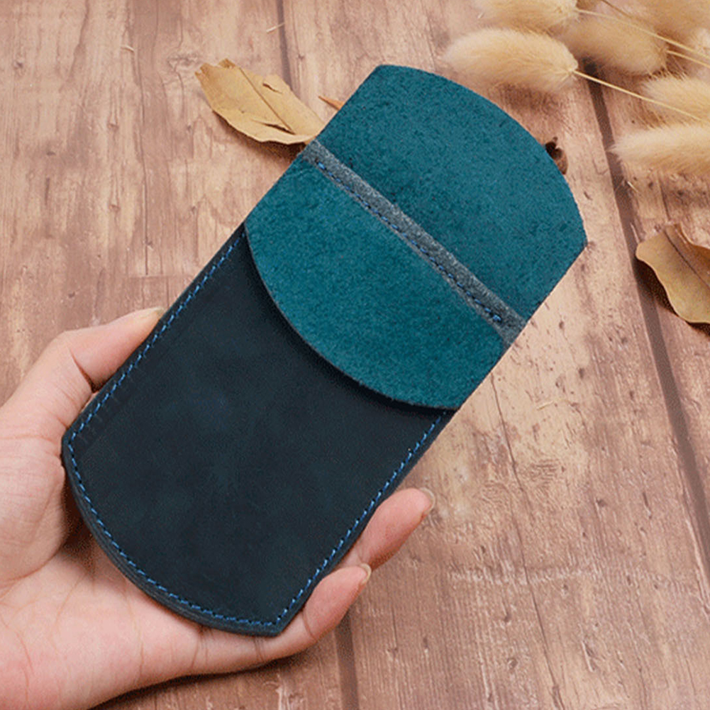Student Pocket Protector Work PU Leather Handmade School Supplies Office Durable Retro Essentials Pen Holder Pouch Pencil Case