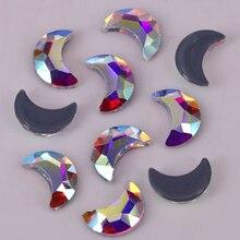 High-Quality Rhinestones/hotfix Crystal Iron On Moon 3x6mm Lead-Free 4x8mm