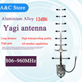 868MHz 12dBi 8 elements Yagi antenna high quality high gain 806~960MHz yagi antenna CDMA GSM mobile booster antenna N-female SMA