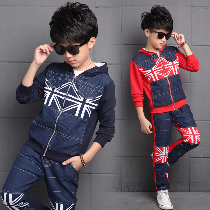 Boys Clothes Autumn Children Clothing Sets Sport Kids Tracksuit for boys Clothes Patchwork Denim Coat Jackets Jeans Pants suit boys suit kids tracksuit clothing sets sport suit 100% cotton children s suit coat pants boys clothes kids clothing suit 2016