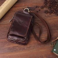 5.8'' Universal Phone Bag For iPhone X 6 6s 7 8 Plus Genuine Leather Waist Bags Cover Case Samsung Note8/S8 Plus Bussiness Men