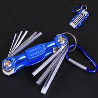 Folding Hex Schlüssel Metall Metric Allen Wrench set Hexagonal Hex Verkaufs-schraubendreher Allen Tasten Hand Werkzeug Tragbare set mit