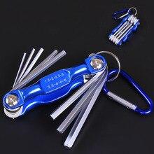 Kit Portable de clés Allen, pliantes, clés hexagonales en métal, tournevis Hexagonal, outil manuel Allen