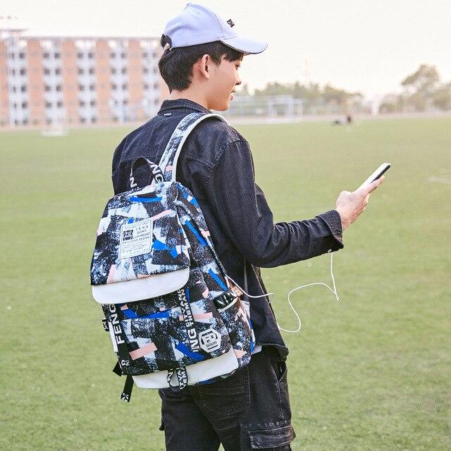 Fashion Backpack Male Female Laptop Shoulder Bag Best Travel Backpack For Men Women 4