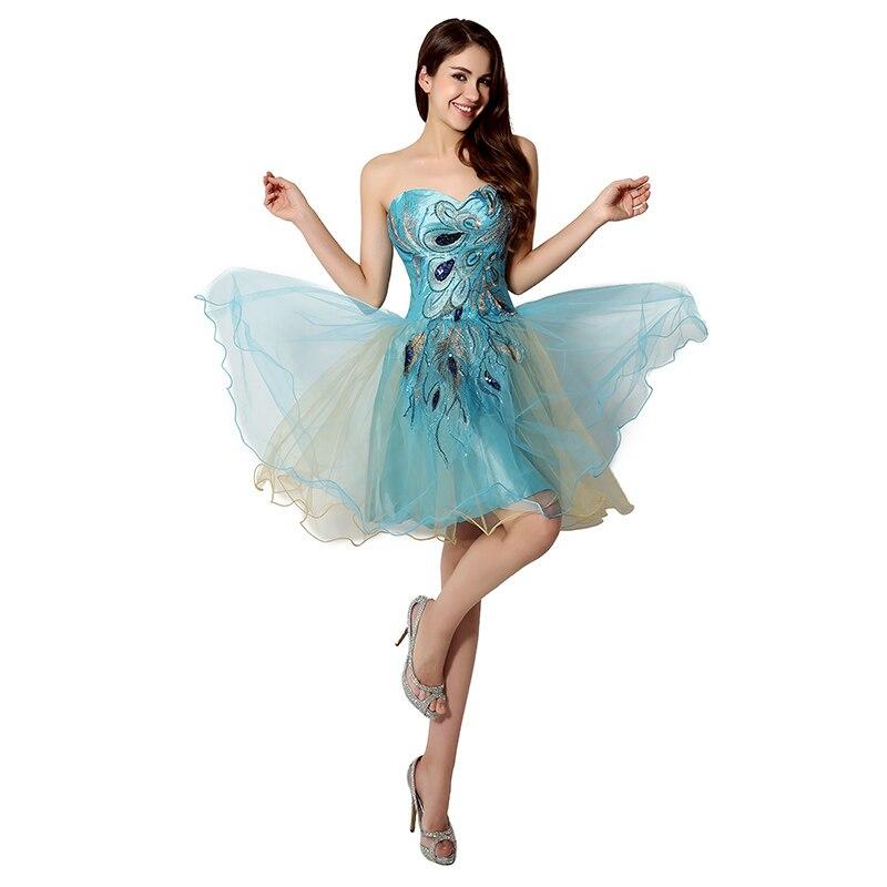 Tanie W magazynie Suknie Homecoming Crystal Sweetheart Sukienka - Suknie specjalne okazje - Zdjęcie 3