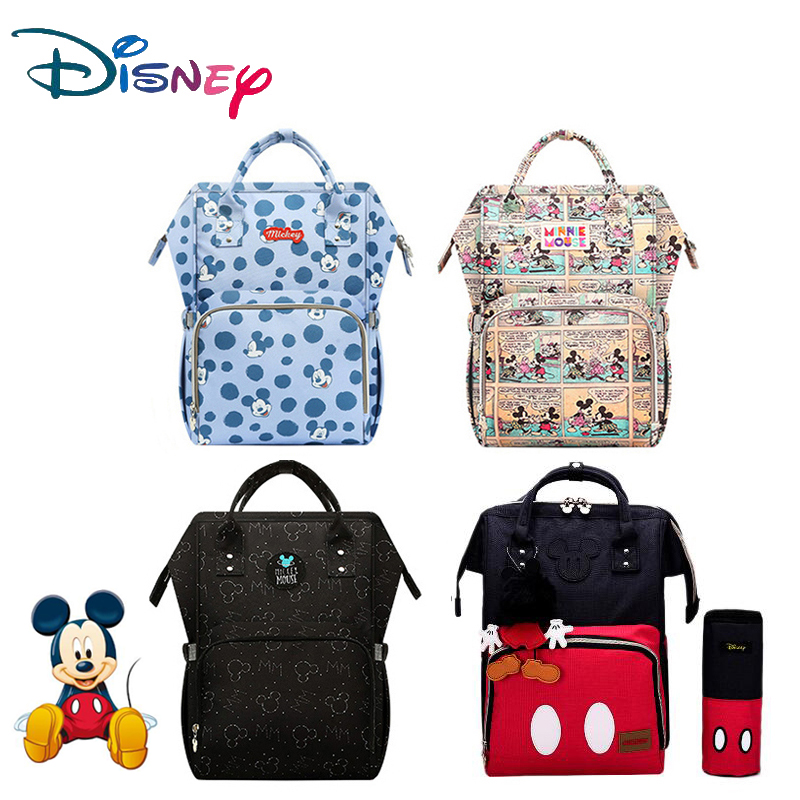 Disney USB Diaper Bag Backpack Maternity/Nappy Bag For Travel Mommy Large Capacity Baby Bag Stroller Baby Care Bags Insulation