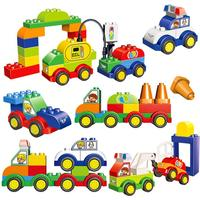 WMX Big Blocks Creative Cars Turck Toys Big Bricks Educational Baby Toys
