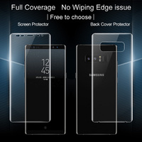 SFor Samsung Galaxy Note 8 Screen Protector IMAK 3D Full Cover 2pcs Front 2pcs Back Soft
