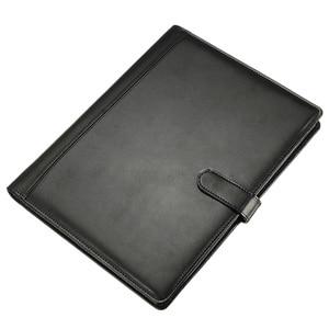 Image 2 - BLEL Hot Black A4 Executive Conference Folder Portfolio PU Leather Document Organiser