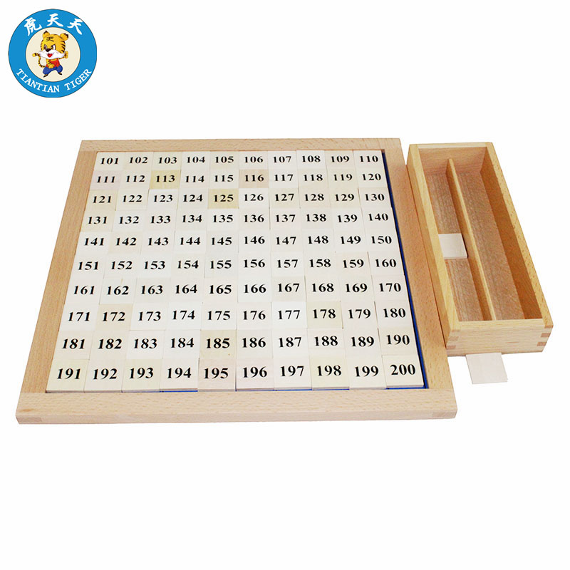 Montessori Mathematics Learning Education Game Kids Toys Wood Teaching Material 101 200 And 10 1000 Board