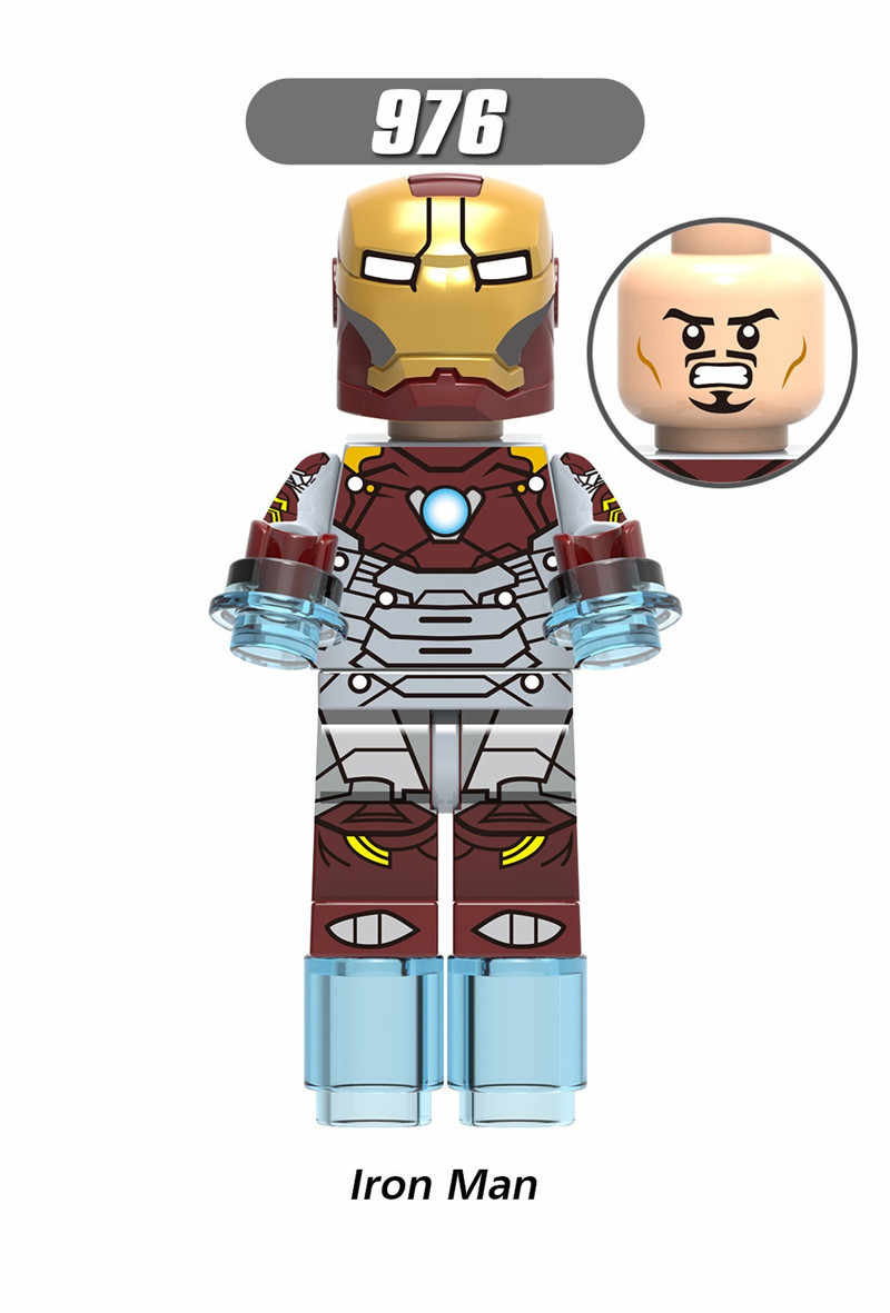Super heróis homem de ferro hulk capitão américa spiderman batman coringa spiderman modelo kits de construção brinquedo para crianças