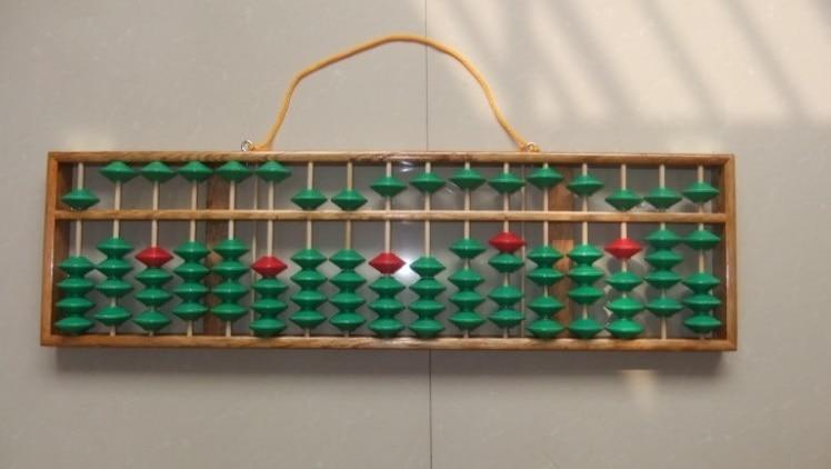 ФОТО high quality 17 column wood Abacus Chinese soroban Tool In Mathematics material montessori education toy juguetes educativos