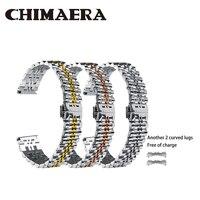 CHIMAERA 22mm 20mm 18mm Watch Strap,Silver/Rose Gold/Golden Stainless Steel Metal Bracelet for Man/Women Watch Band