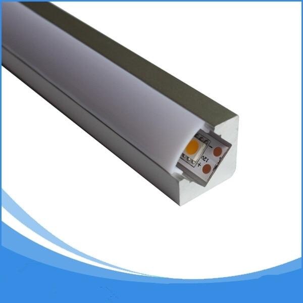 20pcs-1m dlouhý led lehký hliník-položka No.LA-LP34 led Úhlový profil rohový led lehký hliník
