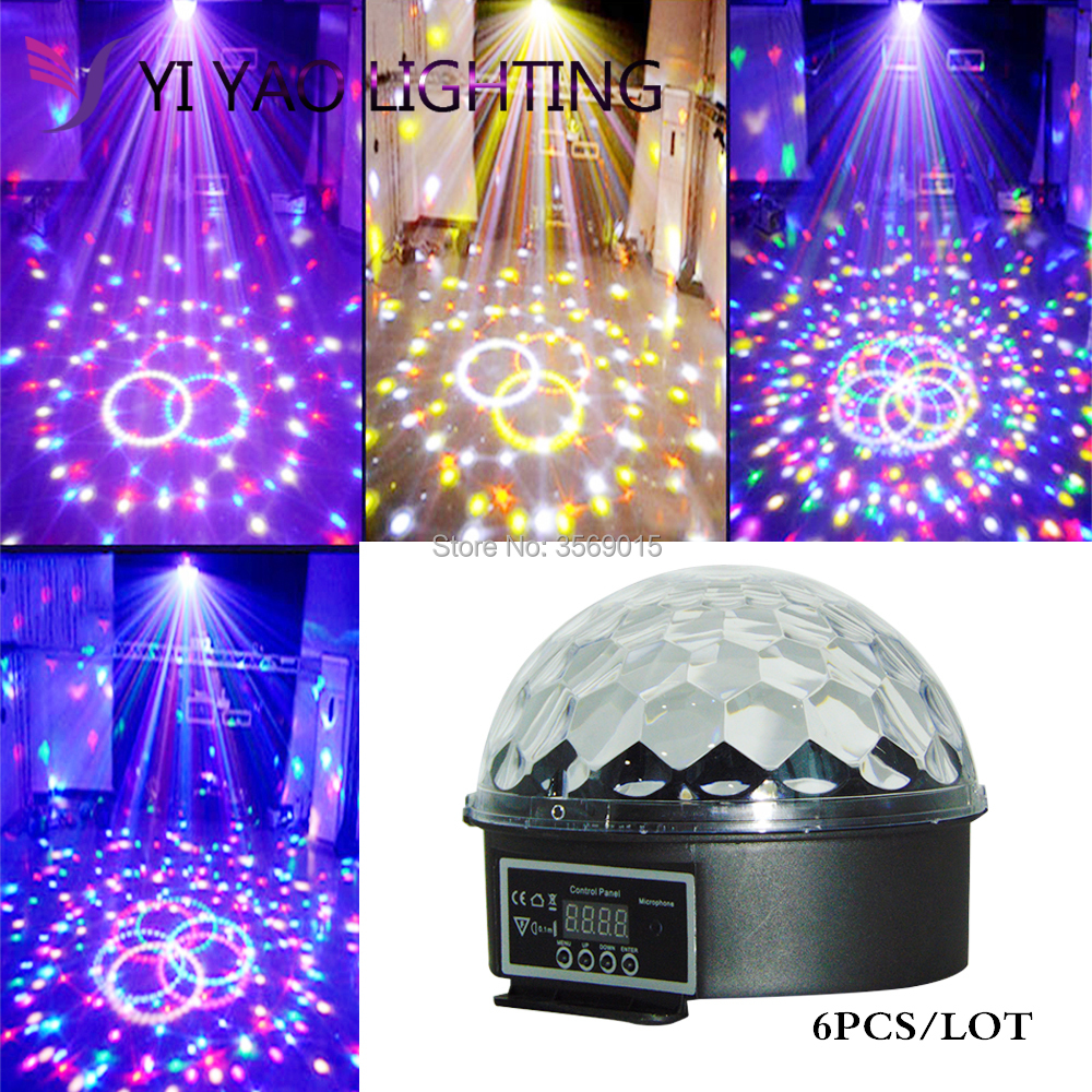 6pcs/lot 9 LED Color Chang remote control Disco Dj Stage Lighting 27W RGB6pcs/lot 9 LED Color Chang remote control Disco Dj Stage Lighting 27W RGB