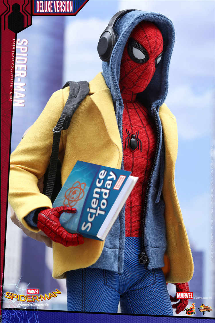 Brinquedos HT Quentes MMS426 1 Spider-Man do Regresso A Casa/6th Escala Spider-Man 2.0 Deluxe Edition Collectible Figure para Os Fãs Do Presente Do Feriado