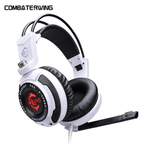 USB 7 1 Surround Sound Vibration Stereo LED Gaming Headsets Headphone with Mic for PC games