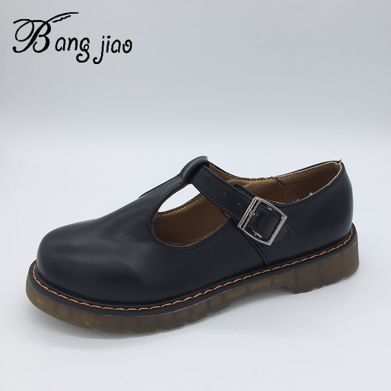 New Mary Janes Shoes Women Round Toe Buckle Strap Casual Comfort Student Shoes Ladies Buckle Strap Flat Shoes Sweet Footwear