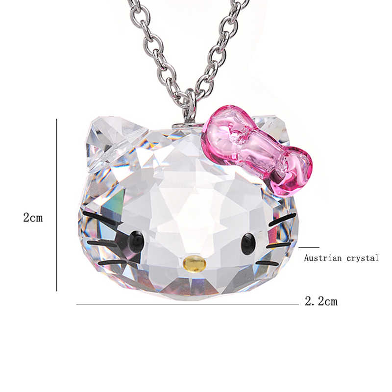 Hello Kitty Pendant ALP ... 2019 Korea CC Anime Necklace Pink Crystal Necklace Cute Cat Hello Kitty  Pendants Necklaces Fashion Cat ...