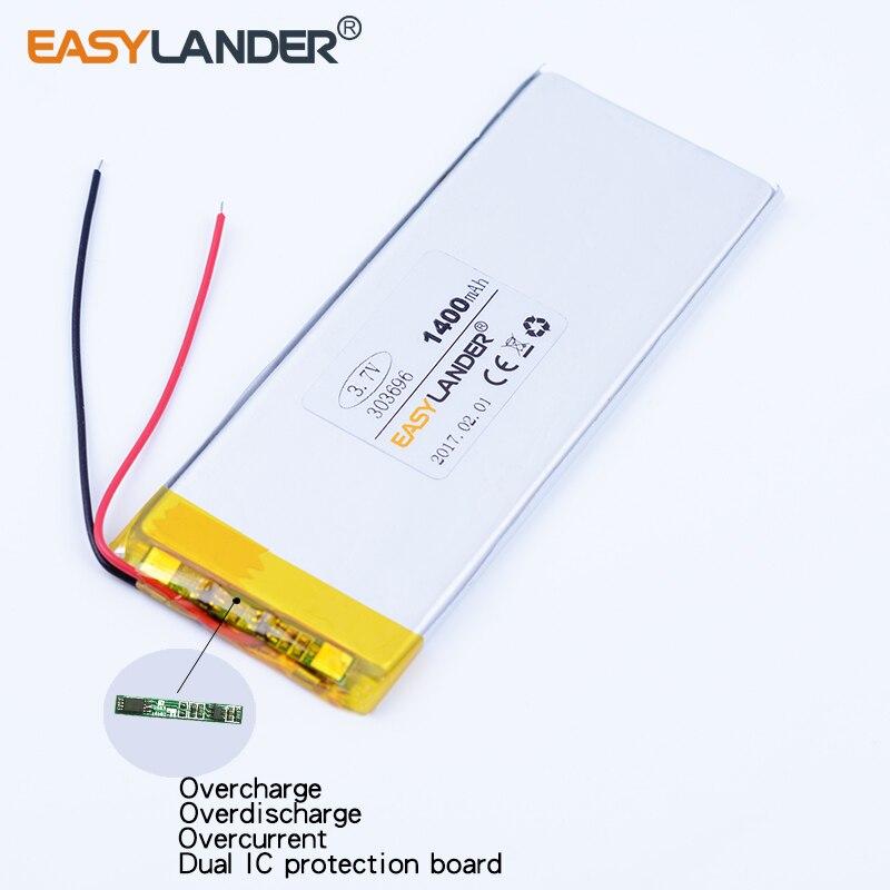 323696 3.7V 1400mAh Rechargeable li-Polymer Li-ion Battery For china clone 4.7inch I6 6s MTK andorid phone 323696P XWD 303696P